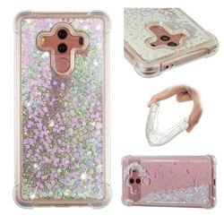 Dynamic Liquid Glitter Sand Quicksand Star TPU Case for Huawei Mate 10 Pro(6.0 inch) - Pink