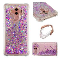 Dynamic Liquid Glitter Sand Quicksand Star TPU Case for Huawei Mate 10 Pro(6.0 inch) - Rose