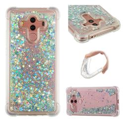 Dynamic Liquid Glitter Sand Quicksand Star TPU Case for Huawei Mate 10 Pro(6.0 inch) - Silver