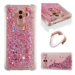 Dynamic Liquid Glitter Sand Quicksand Star TPU Case for Huawei Mate 10 Pro(6.0 inch) - Diamond Rose