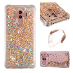 Dynamic Liquid Glitter Sand Quicksand Star TPU Case for Huawei Mate 10 Pro(6.0 inch) - Diamond Gold