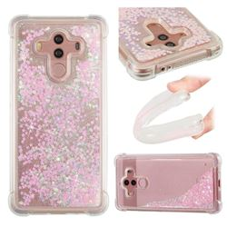 Dynamic Liquid Glitter Sand Quicksand TPU Case for Huawei Mate 10 Pro(6.0 inch) - Silver Powder Star