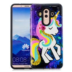 Rainbow Horse Pattern 2 in 1 PC + TPU Glossy Embossed Back Cover for Huawei Mate 10 Pro(6.0 inch)