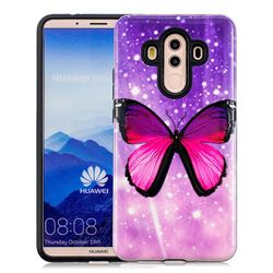 Glossy Butterfly Pattern 2 in 1 PC + TPU Glossy Embossed Back Cover for Huawei Mate 10 Pro(6.0 inch)