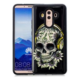 Flower Shantou Pattern 2 in 1 PC + TPU Glossy Embossed Back Cover for Huawei Mate 10 Pro(6.0 inch)