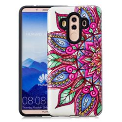 Mandara Flower Pattern 2 in 1 PC + TPU Glossy Embossed Back Cover for Huawei Mate 10 Pro(6.0 inch)