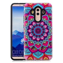 Datura Flowers Pattern 2 in 1 PC + TPU Glossy Embossed Back Cover for Huawei Mate 10 Pro(6.0 inch)