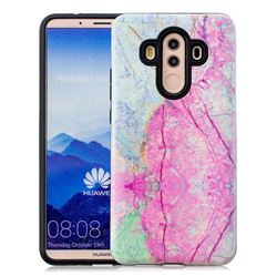 Pink Marble Pattern 2 in 1 PC + TPU Glossy Embossed Back Cover for Huawei Mate 10 Pro(6.0 inch)