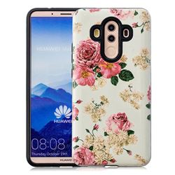 Rose Flower Pattern 2 in 1 PC + TPU Glossy Embossed Back Cover for Huawei Mate 10 Pro(6.0 inch)
