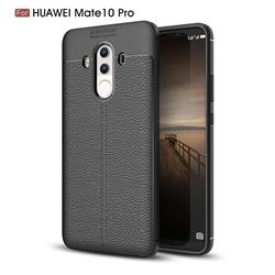 Luxury Auto Focus Litchi Texture Silicone TPU Back Cover for Huawei Mate 10 Pro(6.0 inch) - Black