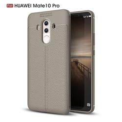 Luxury Auto Focus Litchi Texture Silicone TPU Back Cover for Huawei Mate 10 Pro(6.0 inch) - Gray