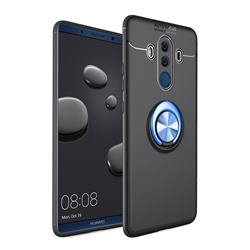 Auto Focus Invisible Ring Holder Soft Phone Case for Huawei Mate 10 Pro(6.0 inch) - Black Blue