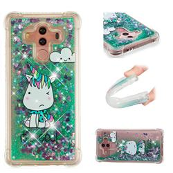 Tiny Unicorn Dynamic Liquid Glitter Sand Quicksand Star TPU Case for Huawei Mate 10 Pro(6.0 inch)