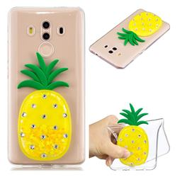 Yellow Pineapple Liquid Quicksand Soft 3D Cartoon Case for Huawei Mate 10 Pro(6.0 inch)