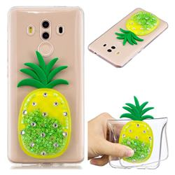Green Pineapple Liquid Quicksand Soft 3D Cartoon Case for Huawei Mate 10 Pro(6.0 inch)