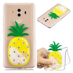 White Pineapple Liquid Quicksand Soft 3D Cartoon Case for Huawei Mate 10 Pro(6.0 inch)