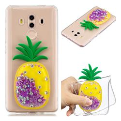 Purple Pineapple Liquid Quicksand Soft 3D Cartoon Case for Huawei Mate 10 Pro(6.0 inch)