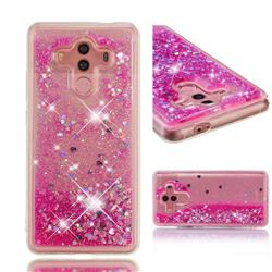 Dynamic Liquid Glitter Quicksand Sequins TPU Phone Case for Huawei Mate 10 Pro(6.0 inch) - Rose