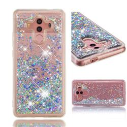 Dynamic Liquid Glitter Quicksand Sequins TPU Phone Case for Huawei Mate 10 Pro(6.0 inch) - Silver
