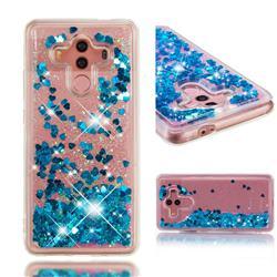 Dynamic Liquid Glitter Quicksand Sequins TPU Phone Case for Huawei Mate 10 Pro(6.0 inch) - Blue