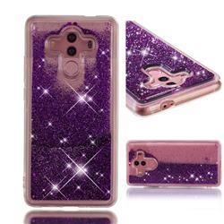 Dynamic Liquid Glitter Quicksand Sequins TPU Phone Case for Huawei Mate 10 Pro(6.0 inch) - Purple