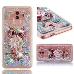 Seashell Owl Dynamic Liquid Glitter Quicksand Soft TPU Case for Huawei Mate 10 Pro(6.0 inch)