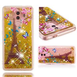 Golden Tower Dynamic Liquid Glitter Quicksand Soft TPU Case for Huawei Mate 10 Pro(6.0 inch)