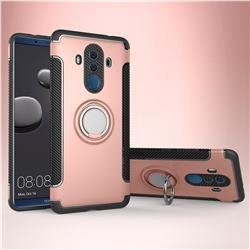 Armor Anti Drop Carbon PC + Silicon Invisible Ring Holder Phone Case for Huawei Mate 10 Pro(6.0 inch) - Rose Gold