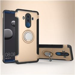 Armor Anti Drop Carbon PC + Silicon Invisible Ring Holder Phone Case for Huawei Mate 10 Pro(6.0 inch) - Champagne