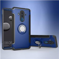Armor Anti Drop Carbon PC + Silicon Invisible Ring Holder Phone Case for Huawei Mate 10 Pro(6.0 inch) - Sapphire