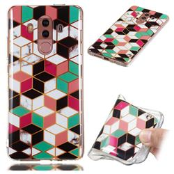 Three-dimensional Square Soft TPU Marble Pattern Phone Case for Huawei Mate 10 Pro(6.0 inch)