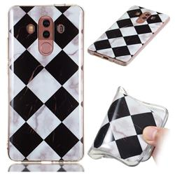 Black and White Matching Soft TPU Marble Pattern Phone Case for Huawei Mate 10 Pro(6.0 inch)
