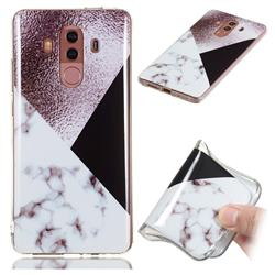 Black white Grey Soft TPU Marble Pattern Phone Case for Huawei Mate 10 Pro(6.0 inch)