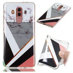 Pinstripe Soft TPU Marble Pattern Phone Case for Huawei Mate 10 Pro(6.0 inch)