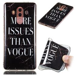 Stylish Black Soft TPU Marble Pattern Phone Case for Huawei Mate 10 Pro(6.0 inch)