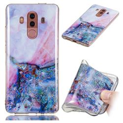 Purple Amber Soft TPU Marble Pattern Phone Case for Huawei Mate 10 Pro(6.0 inch)
