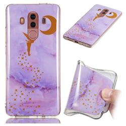 Elf Purple Soft TPU Marble Pattern Phone Case for Huawei Mate 10 Pro(6.0 inch)