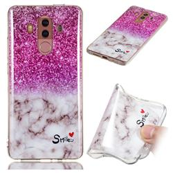 Love Smoke Purple Soft TPU Marble Pattern Phone Case for Huawei Mate 10 Pro(6.0 inch)