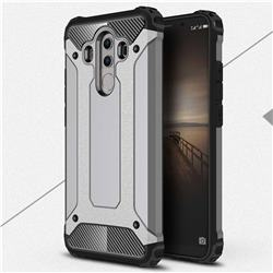 King Kong Armor Premium Shockproof Dual Layer Rugged Hard Cover for Huawei Mate 10 Pro(6.0 inch) - Silver Grey