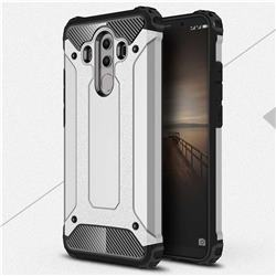 King Kong Armor Premium Shockproof Dual Layer Rugged Hard Cover for Huawei Mate 10 Pro(6.0 inch) - Technology Silver