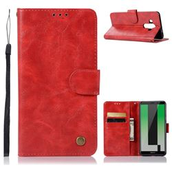 Luxury Retro Leather Wallet Case for Huawei Mate 10 Pro(6.0 inch) - Red