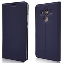 Ultra Slim Card Magnetic Automatic Suction Leather Wallet Case for Huawei Mate 10 Pro(6.0 inch) - Royal Blue