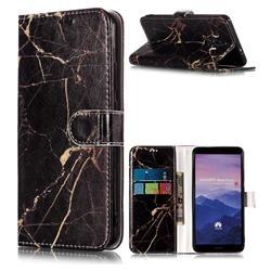 Black Gold Marble PU Leather Wallet Case for Huawei Mate 10 Pro(6.0 inch)