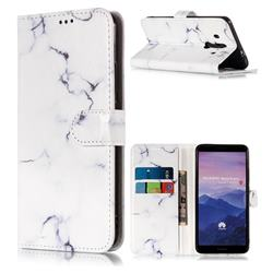 Soft White Marble PU Leather Wallet Case for Huawei Mate 10 Pro(6.0 inch)