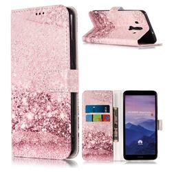Glittering Rose Gold PU Leather Wallet Case for Huawei Mate 10 Pro(6.0 inch)