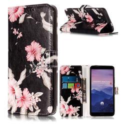 Azalea Flower PU Leather Wallet Case for Huawei Mate 10 Pro(6.0 inch)
