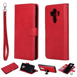 Retro Greek Detachable Magnetic PU Leather Wallet Phone Case for Huawei Mate 10 Pro(6.0 inch) - Red