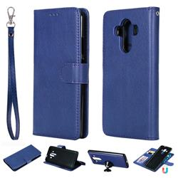 Retro Greek Detachable Magnetic PU Leather Wallet Phone Case for Huawei Mate 10 Pro(6.0 inch) - Blue