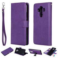 Retro Greek Detachable Magnetic PU Leather Wallet Phone Case for Huawei Mate 10 Pro(6.0 inch) - Purple