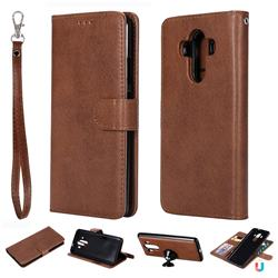 Retro Greek Detachable Magnetic PU Leather Wallet Phone Case for Huawei Mate 10 Pro(6.0 inch) - Brown